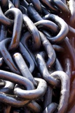 Chain Links on a Dockside. Print by Mark Williamson