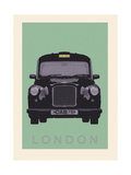 London - Cab I Premium Giclee Print by Ben James
