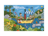 River Adventures Giclee Print by Sophie Harding