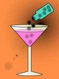 Spiked Drink, Conceptual Image Poster by Stephen Wood