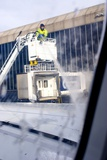 Aircraft Deicing Print by Mark Williamson