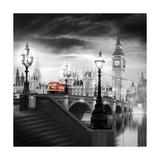 London Bus III Premium Giclee-trykk av Jurek Nems