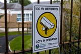 Security Camera Sign At a School In Wales Photo by Mark Williamson