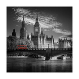London Bus IV Premium Giclee Print by Jurek Nems