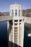 Intake Tower In Lake Mead At Hoover Dam Prints by Mark Williamson