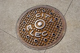 Manhole Cover In Chicago Photographic Print by Mark Williamson