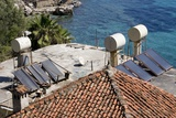 Solar Water Heating System In Turkey. Photographic Print by Mark Williamson