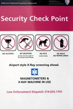 Security Check Point Sign In St Louis Photographic Print by Mark Williamson