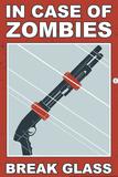 Zombies Break Glass Snorg Tees Plastic Sign Plastikskilte af  Snorg