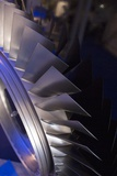 Aircraft Engine Fan Blades. Photographic Print by Mark Williamson