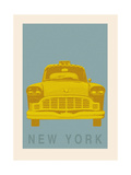 New York - Cab Premium Giclee Print by Ben James