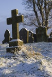 Graveyard In Snow. Photographic Print by Mark Williamson