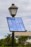 Solar Powered Street Lamp In Florida USA. Photographic Print by Mark Williamson