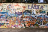 Lennon Wall, Prague Fotoprint av Mark Williamson