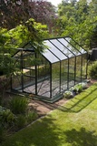 Domestic Greenhouse In Garden. Photographic Print by Mark Williamson