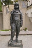 Aviator Statue At Prague Observatory Photographic Print by Mark Williamson