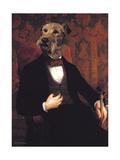 Ancestral Canines III Giclee-tryk i høj kvalitet af Thierry Poncelet