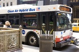 Hybrid Bus In Chicago Photographic Print by Mark Williamson