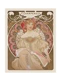 Reverie, c.1897 Giclee-tryk i høj kvalitet af Alphonse Mucha
