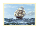 Racing Home, The Cutty Sark Giclee Print by Montague Dawson