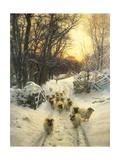 The Sun Had Closed Giclee-tryk i høj kvalitet af Joseph Farquharson