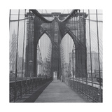 The Brooklyn Bridge, Sunday AM Premium Giclee Print by  The Chelsea Collection