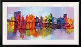 Abstract Manhattan Prints by Brian Carter