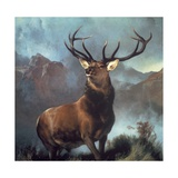 Monarch of the Glen Stampa giclée premium di Edwin Henry Landseer