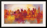 Abstract New York City Print by Brian Carter