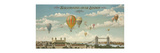 Ballooning over London Premium Giclee Print by Isiah and Benjamin Lane