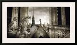 Gargouilles de Notre Dame, Paris Print by Stephane Rey-Gorrez