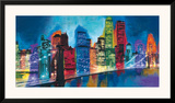 Abstract NYC Skyline at Night Prints by Brian Carter