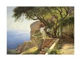 Pergola in Amalfi Giclee-tryk i høj kvalitet af Carl Frederic Aagaard