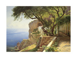 Pergola in Amalfi Premium Giclee Print by Carl Frederic Aagaard