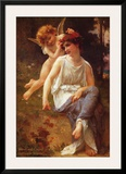 Venus and Cupid Art by Guillaume Seignac