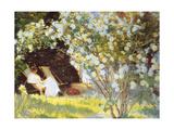 Les Roses Giclee-tryk i høj kvalitet af Peder Severin Kröyer
