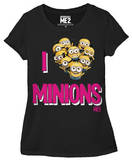 Juniors: Despicable Me 2 - I Love Minions T-Shirt