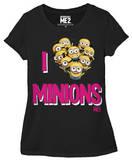 Juniors: Despicable Me 2 - I Love Minions T-Shirt