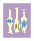 Mid Century Vase on Purple Photographic Print by Donna Mibus