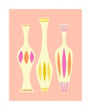 Mid Century Vases on Pink Photographic Print by Donna Mibus