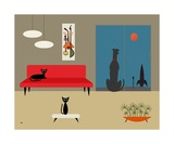 Mid Century Dog Spies Alien Photographic Print by Donna Mibus
