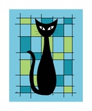 Abstract with Cat in Blue Photographic Print by Donna Mibus