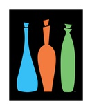 Decanters on Black Photographic Print by Donna Mibus