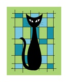 Abstract with Cat in Green Photographic Print by Donna Mibus