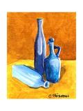 Blue Bottles Pôsters por Cindy Thornton