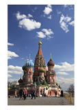 St. Basil's Cathedral on the Red Square, Moscow, Russia Premium Giclee Print