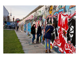 Remains of the Berlin Wall at the East Side Gallery in Berlin, Germany Premium Giclee Print