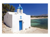 Agios Ioannis Chapel on the Beach of Aliko, Island of Naxos, Cyclades, Greece Premium Giclee Print