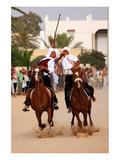 Fantasia, equestrian games in Midoun, Jerba Island, Medenine, Tunisia Giclee-tryk i høj kvalitet