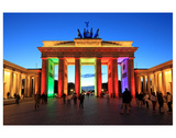 Festival of Lights, Brandenburg Gate at Pariser Platz, Berlin, Germany Premium Giclee Print